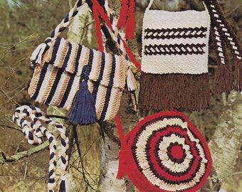PDF crochet bag bags and belt belts vintage crochet pattern pdf INSTANT download pattern only pdf purse