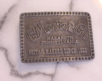 CF Martin Belt Buckle Nazareth Pennsylvania Guitar Makers Since 1835
