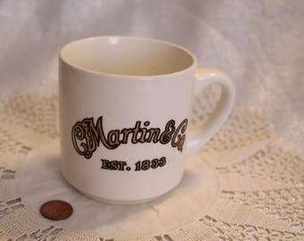 "Vintage ""Martin & Co. Est 1833"" Mug Martin Guitar"