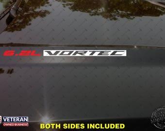 6.2L VORTEC Hood Vinyl Decals Stickers Fit GM Cadillac Escalade GMC Yukon Denali