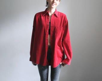 Vintage M/L red corduroy shirt