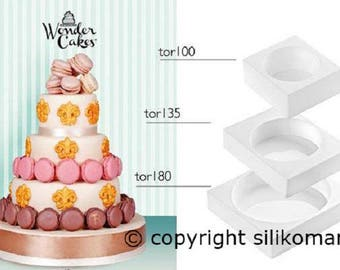 "Box 3 molds ""My fabulous cake"" - ""My wonder cake"" - classic"