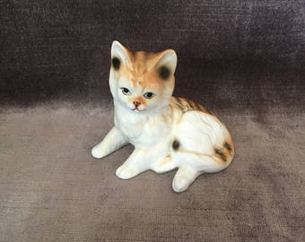 Vintage Bone china Japan kitty cat figurine