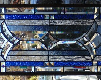 Stained Glass Window Hanging 36 1/2 X 16
