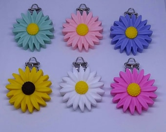 Silicone Flower Clip-Single or Lot of 6