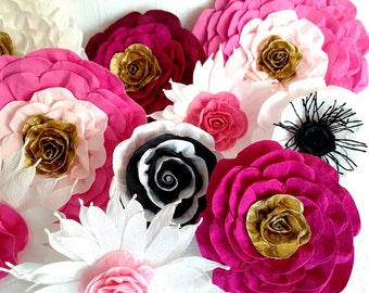 12 Large giant paper flowers kate bridal spade Backdrop Wall arch Paper decor CENTERPIECE baby shower Photo backdrop birthday party Nursery