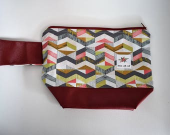 project bag for knits bag with zip