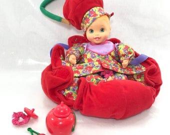 FREE SHIPPING! 1999 Kinder-Garden Babies Cherry Orange Hair Baby Doll Cute! (#38)