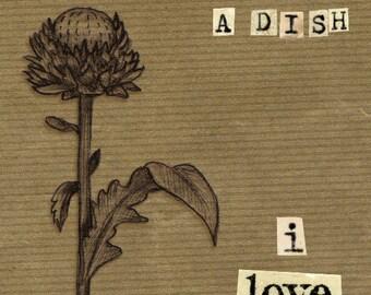 Valentine 'Such a Dish' Dandelion handmade 17.5 cm x 12.5 cm