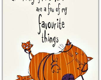 Favorite things with envelope 12.5 cm x 17 cm greeting card
