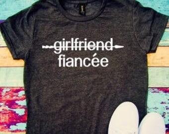 Girlfriend fiancee, girlfriend, fiancee, wife, engaged, soon to be married, wedding gift, fiancee gift, womens shirt, fiancee gift