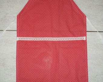 Tablier006 - Apron child fuchsia dots