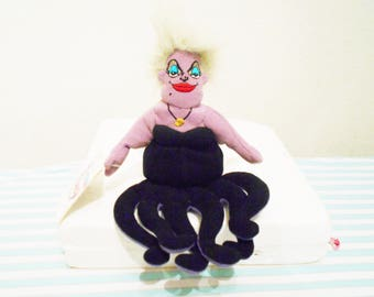 "Disney Beanbag Plush ""Ursula"" The Sea Witch From ""The Little Mermaid""The Disney Movie/8"" Tall/The Villainess/New With Disney Store Tags!"