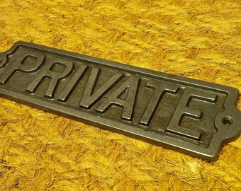 PRIVATE - Cast Iron Vintage Plaque