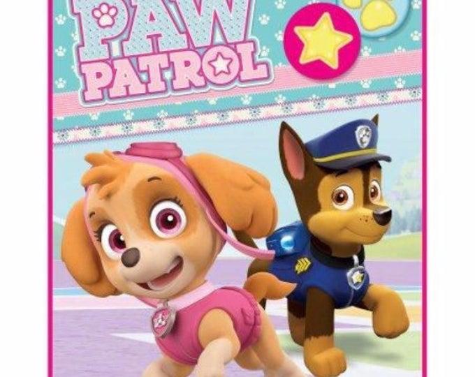 "Paw Patrol Pink ""Pawsome Pals"" Kids' Silky Soft 40"" x 50"" Throw Blanket - Monogrammed"