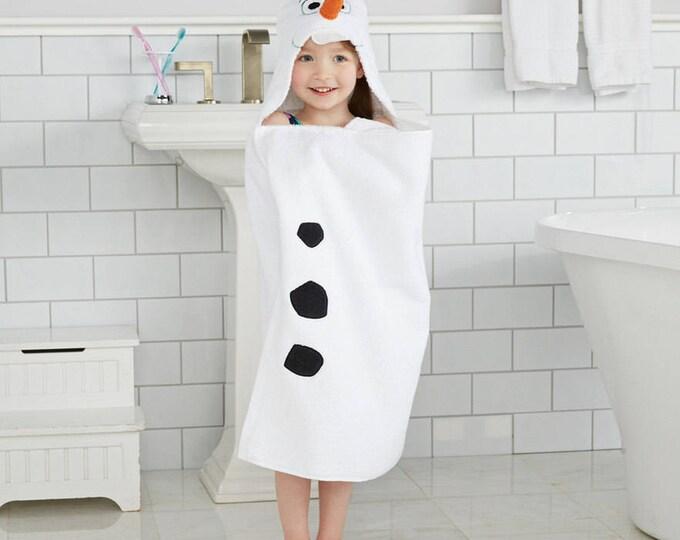 Disney's Frozen Olaf Hooded Bath Towel Wrap - Personalized