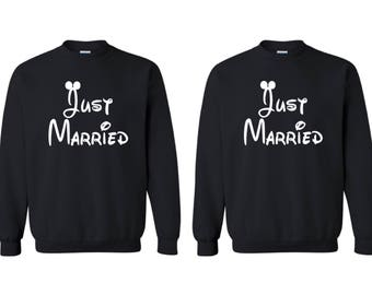 Just Married Couples crewneck, Bride and Groom sweatshirts, Couples crewneck, gift for her, gift for him