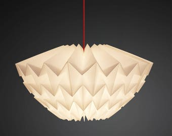 Origami Paper lampshade: Discus [medium - white]