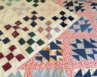 Lot of 3 Vintage Cutter Lap Quilts- MD24