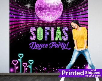 Disco Dance Party Photo Backdrops, Sweet 16 Birthday Party Backdrop, Personalized Backdrop, Disco Ball Backdrop, Printed Vinyl Backdrop