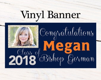 Dazziling Class of 2018 Graduation Photo Banner ~ Personalized Party Banners - Congratulations Banner, Congrats Grad Banner, Class of 2018