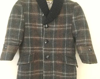 Vintage Early 1960's Boys Wool Coat