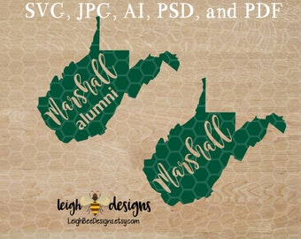 West Virginia Marshall SVG, West Virginia SVG Files, Svg West Virginia, West Virginia Clipart, West Virginia Cut File, Marshall SVG