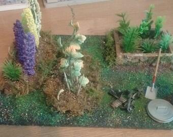 12th scale dollshouse garden allotment addition