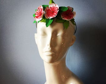 Cherry Blossom Crown Flower wreath boho bridal wedding paper