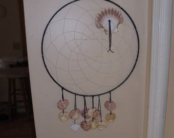 18 inch dream catcher with shells