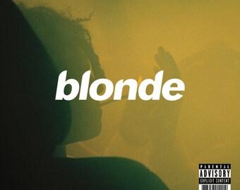 "Frank Ocean Poster - Blonde Album Music Cover - American Rapper - American Singer - Hip Hop Artist Print - Size 12x12"" 18x18"" 24x24"" 32x32"""