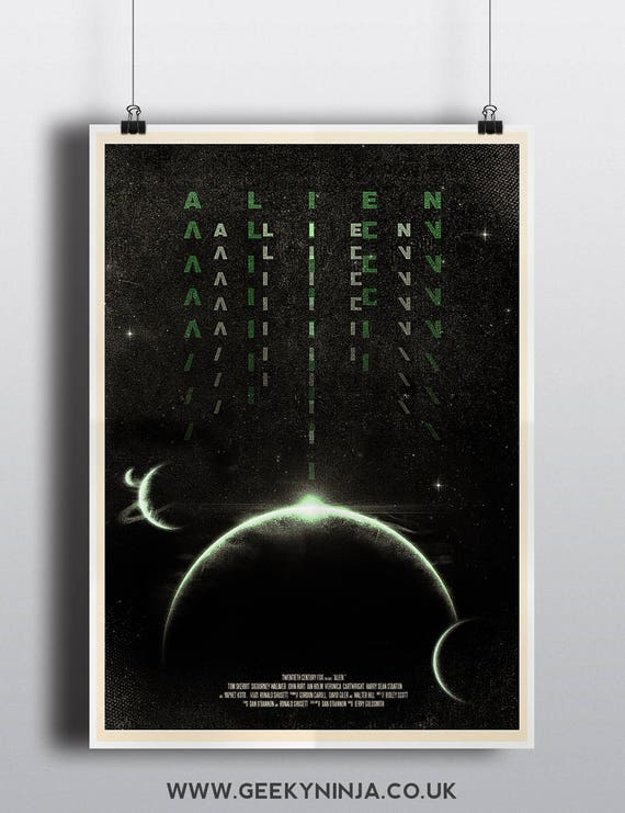 Alien (1979) Alternative Movie Poster - Alien Inspired Minimalist Poster - Alien Poster