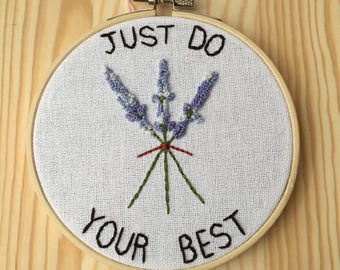 Just Do Your Best Hoop Art