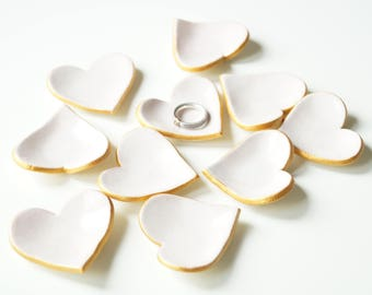 Wedding Favors, Favors for Guests, 10 pieces, Ceramic Hearts, Pastel Pink Hearts, Favors for Guests