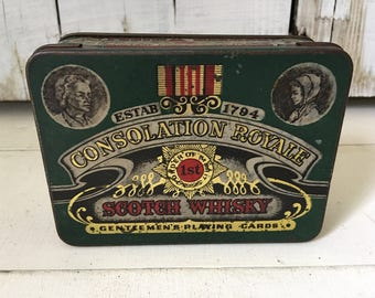 Green tin box
