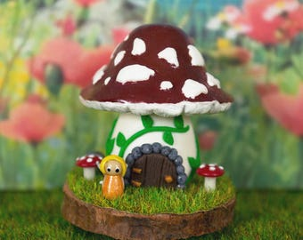 Miniature Fairy House Polymer Clay Scenes