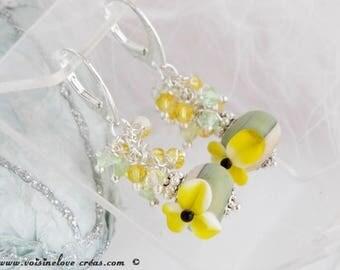 Double-sided earrings Lampwork beads