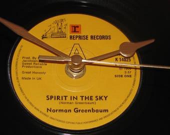 "Norman Greenbaum spirit in the sky  7"" vinyl record clock"