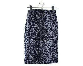 Snow Leopard Pencil Skirt