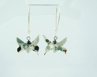 Paper butterflies washi origami earrings