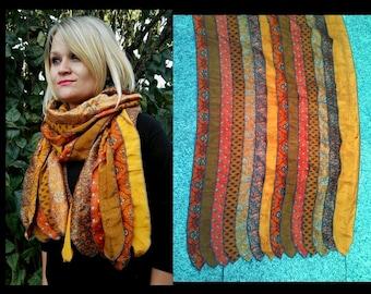 RECYCLED silk SARI SCARF, recycled sari silk scarf
