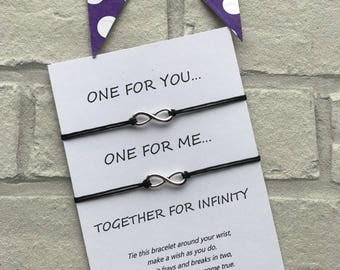 Infinity Wish Bracelet - Infinity String Bracelet - Infinity Bracelet- Infinity Charm Bracelet - Infinity Charm - Mothers Day Gift
