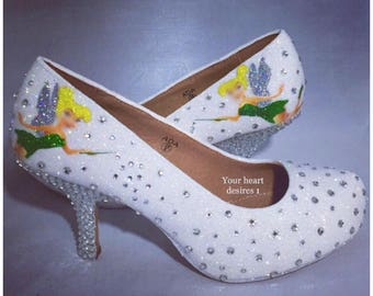 Fairy crystal shoes wedding shoes costume heels fairy shoes