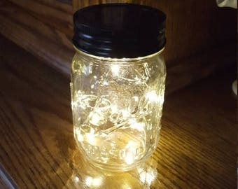 July Sales Event Mason Jar Solar Fairy Light - 10 LED Soft White Angel Lights - Firefly Lights - solar mason jar, fairy lights, mason jar so
