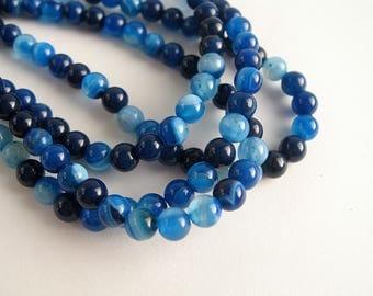 dark blue agate 4mm 60 beads