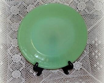 Vintage Fire King Jadite Plate, 9 in. Jadite Dinner Plate