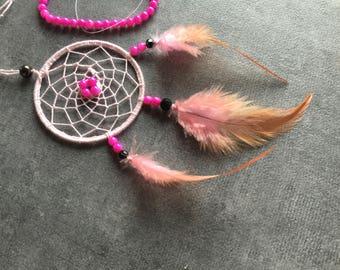 Pink dream catcher handmade