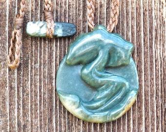 Juniper Tree Pendant (Wyoming Snowflake Jade)