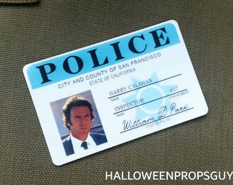 DIRTY HARRY Harry Calahan San Fransico Pd Pvc Id Card Badge Clint Eastwood Made In USA