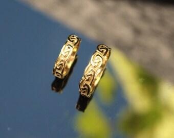 Set Celtic gold rings 14 kt ' Infinity '